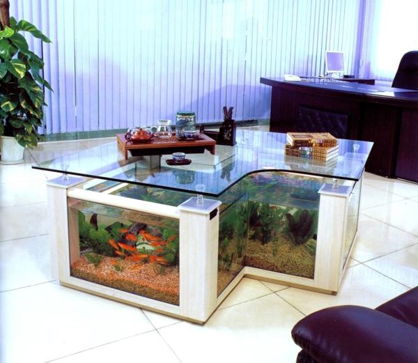 La d coration avec un meuble aquarium for Meuble pour aquarium