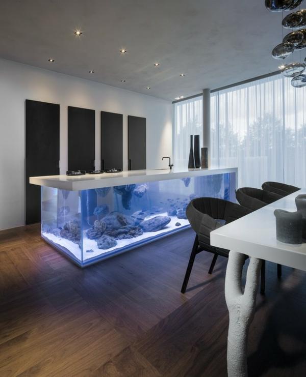 meuble-aquarium-un-îlot-de-cuisine-moderne
