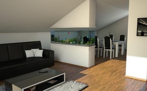 meuble-aquarium-un-mur-répartissant-fantastique