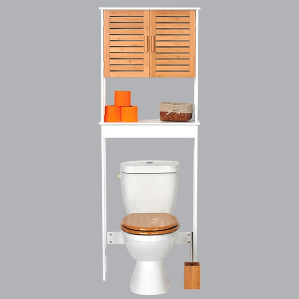 Le meuble wc for Meuble wc blanc