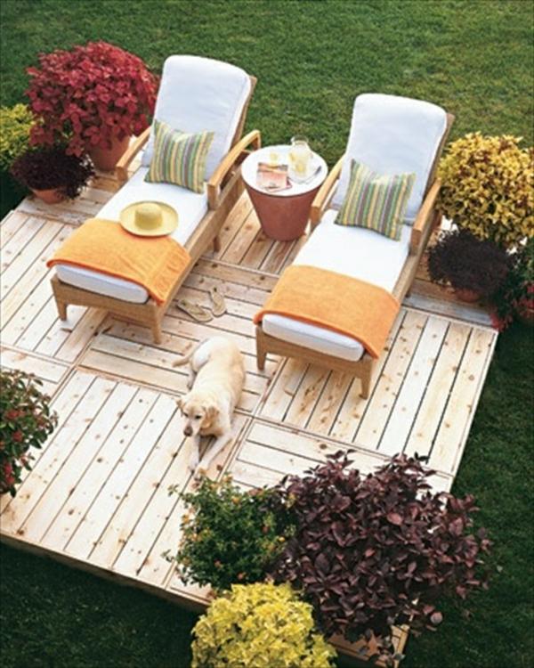 Id es originales de meubles en palettes for Arrangement jardin