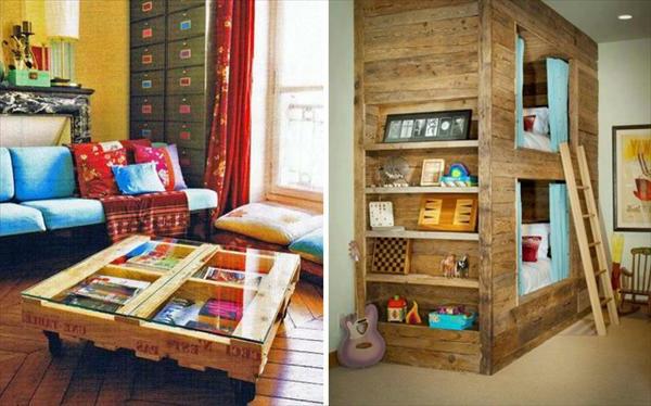 Id es originales de meubles en palettes - Cherche palettes bois gratuites ...