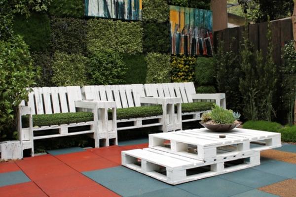 Id es originales de meubles en palettes - Salon de jardin en palette a vendre ...
