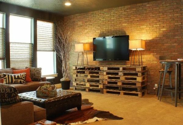 Id es originales de meubles en palettes - Creation meuble avec palette ...