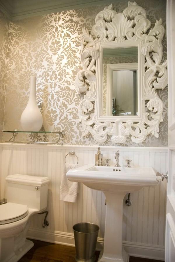 Le miroir baroque est un joli accent d co - Miroir baroque pour salle de bain ...