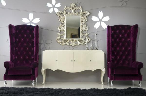 miroir-baroque-grands-fauteuils-vintage