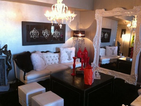 miroir-baroque-idées-salle-de-séjour-originale