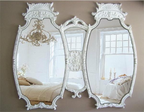 Le miroir baroque est un joli accent d co for Petit miroir original
