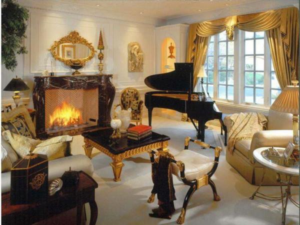 miroir-baroque-salle-de-séjour-baroque-inspirante