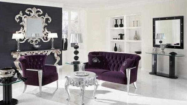 miroir-baroque-salle-de-séjour-style-baroque-moderne