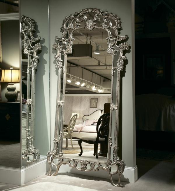 Grand miroir baroque for Grand miroir blanc baroque
