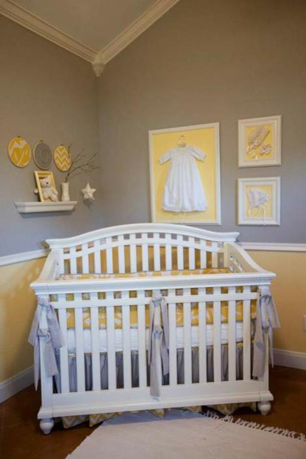 Le mobilier design d 39 enfant pour une chambre en gris - Mur gris et jaune ...