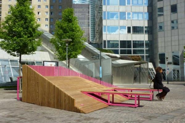 Designs innovants de mobilier urbain for Meuble urbain