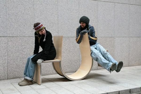 Designs innovants de mobilier urbain for Chaise qui se balance