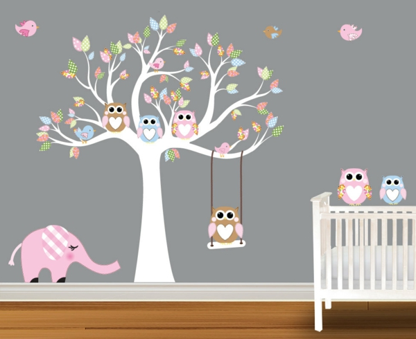 Excellent Stunning Stickers Arbre Blanc Chambre Bebe Amazing With Stickers  Hibou Branche