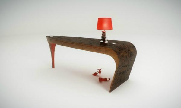 moderne-lampe-en-rouge