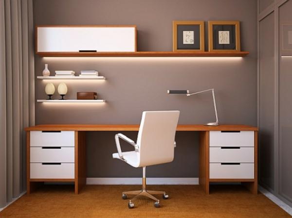 La chaise du bureau en bois r tro moderne - Bureau design moderne ...