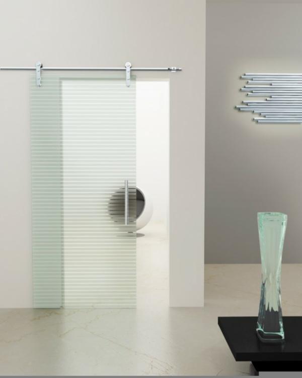 La porte coulissante pour la salle de bain for Glace salle de bain