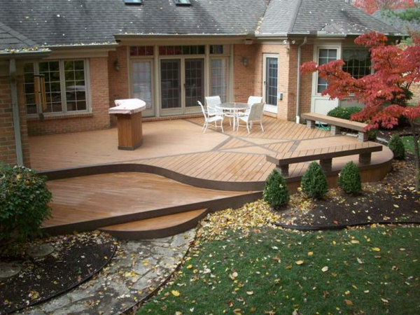 Faire une terrasse en bois composite for Zen terras layouts