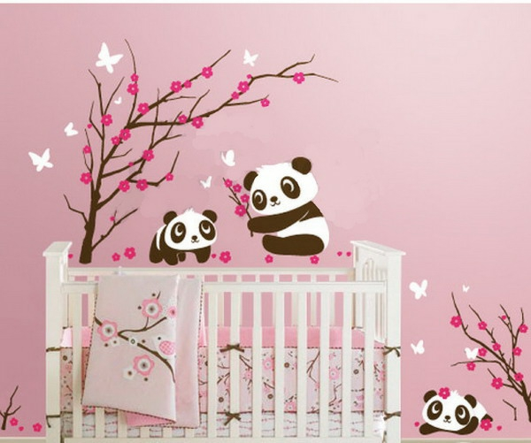 Stickers Arbre Blanc Chambre Bebe : Ophrey stickers arbre bleu chambre bebe
