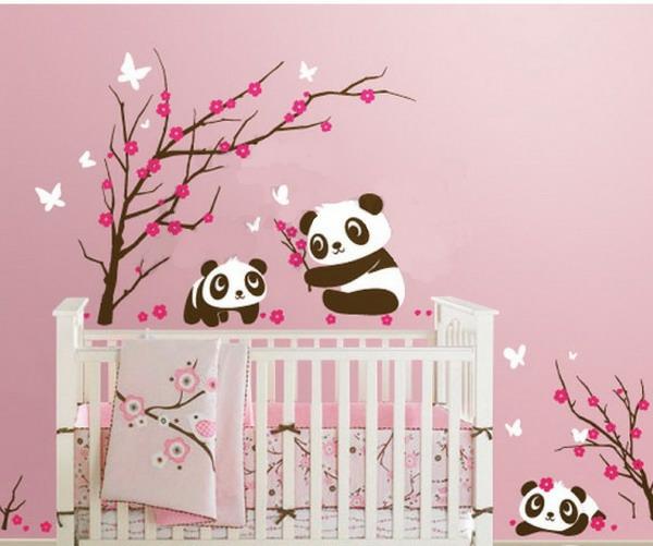 Stickers pour la chambre de b b arbre Chambre bebe panda