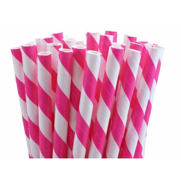 petites-pailles-rayees-rose-fushia-pour-votre-table-du-fête