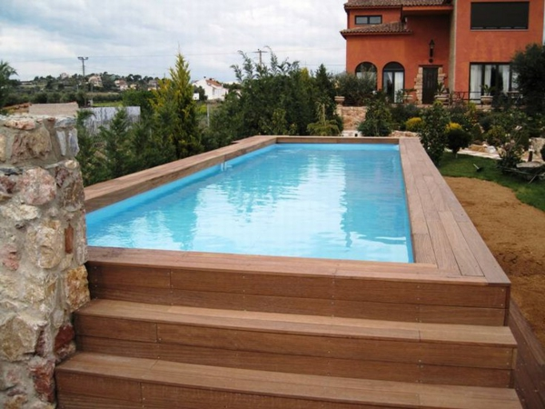 Hors cr atif sol piscine for Piscine rectangulaire bois enterree