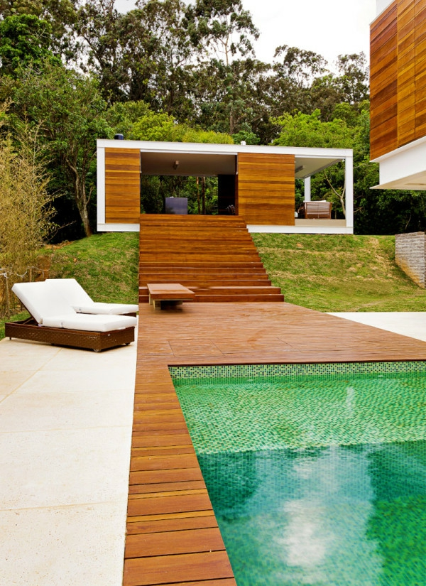 Terrasse for Exterieur piscine