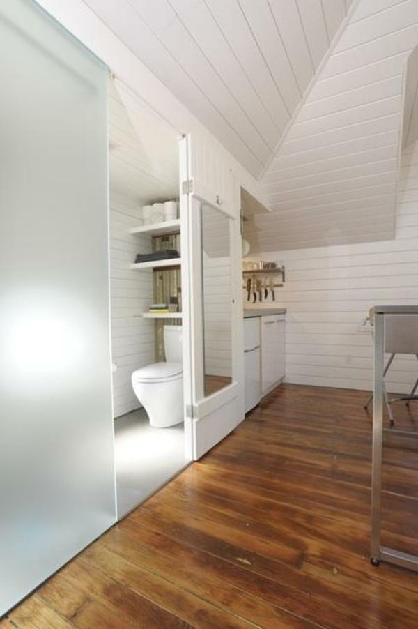 La porte coulissante pour la salle de bain - Meuble salle de bain porte coulissante ...