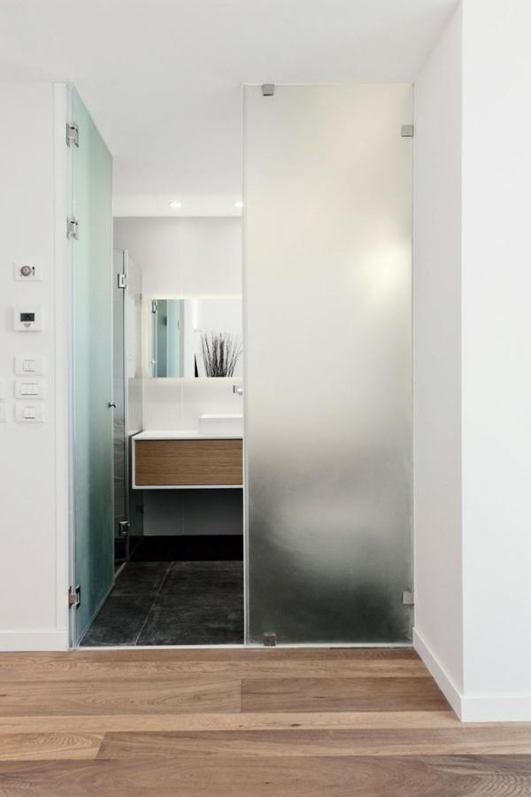 La porte coulissante pour la salle de bain for Porte coulissante pour petite salle de bain