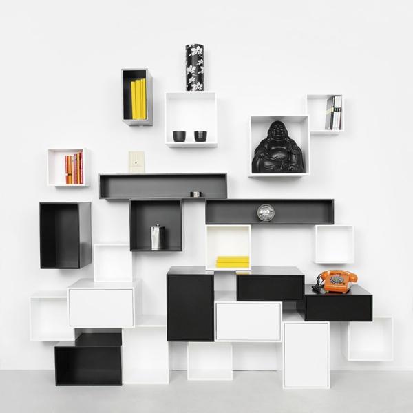 rangement-modulable-étagères-modernes-cubiques-en-noir-et-blanc