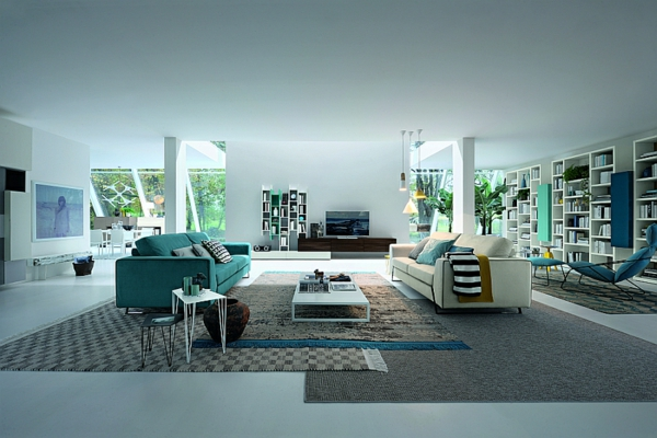 rangement-modulable-décor-en-blanc-et-turquoise