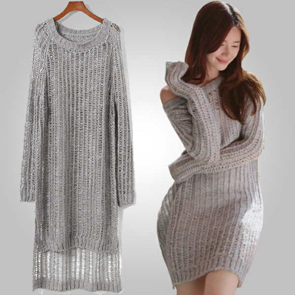 robe-pull-ample-gris-clair