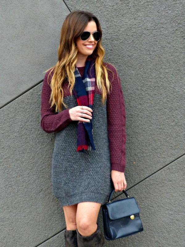 robe-pull-bicolore