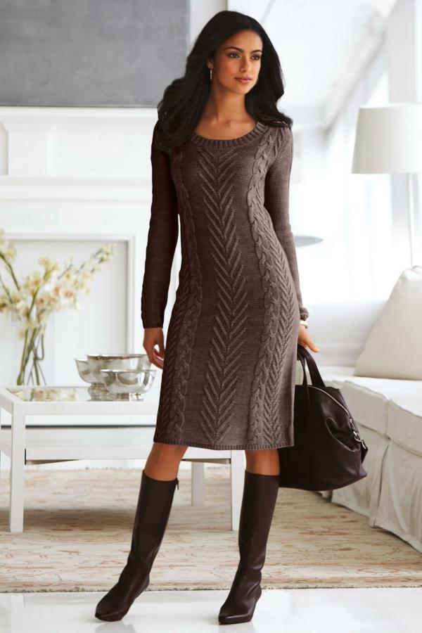 robe-pull-chocolat-torsades-magnifiques
