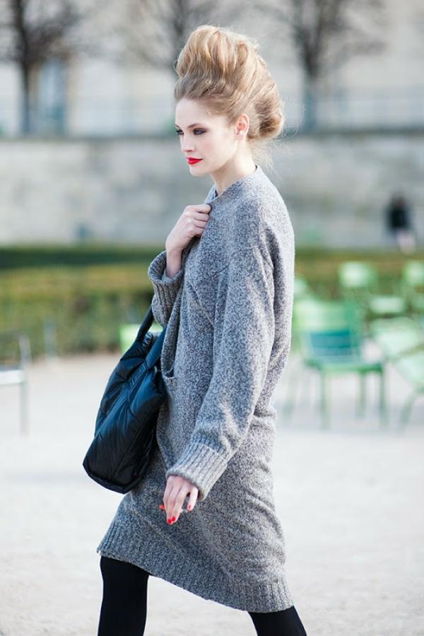 robe-pull-en-gris-un-style-magnifique