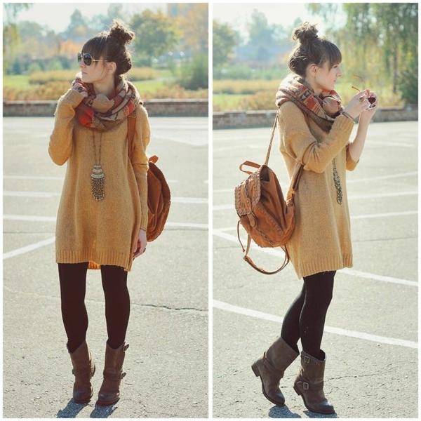 robe-pull-et-un-foulard-style-quotidien