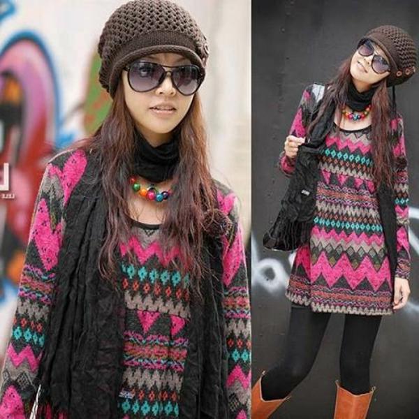 robe-pull-motifs-colorés