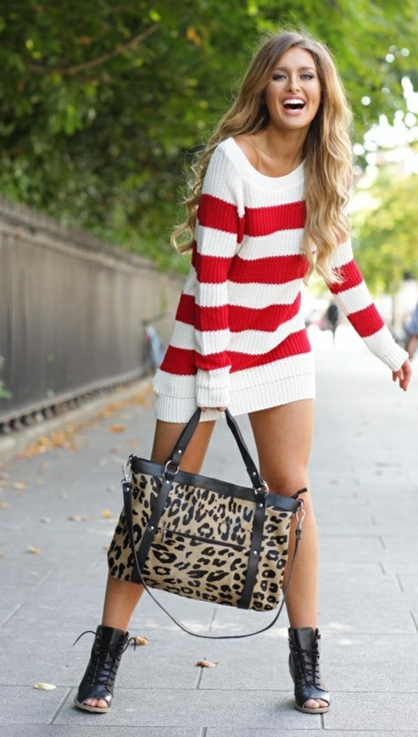 robe-pull-rayures-rouges