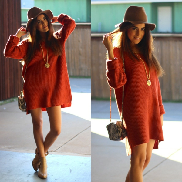 robe-pull-rouge-et-ample