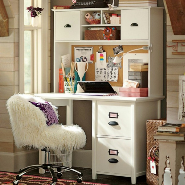scandinave-style-de-chambre-en-blanc-et-design-en-vintage