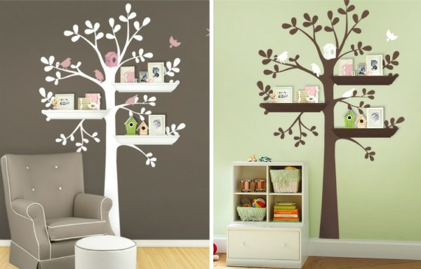 stickers pour la chambre de b b arbre. Black Bedroom Furniture Sets. Home Design Ideas