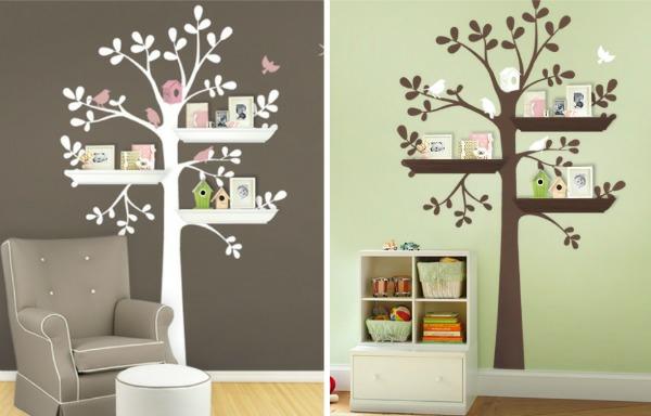 Stickers pour la chambre de b b arbre for Stickers arbre chambre bebe