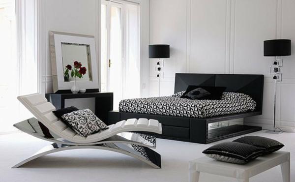 sommelier-du-lit-pour-chambre-a-coucher-en-blanc-et-noir