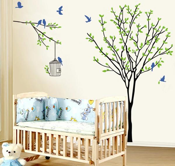 Stickers pour la chambre de b b arbre - Stickers pour maison ...