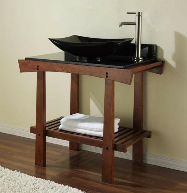style-asiatyque-pour-votre-salle-de-bain-en-bois-armoir-ouvert-avec-un-lavabo-noir