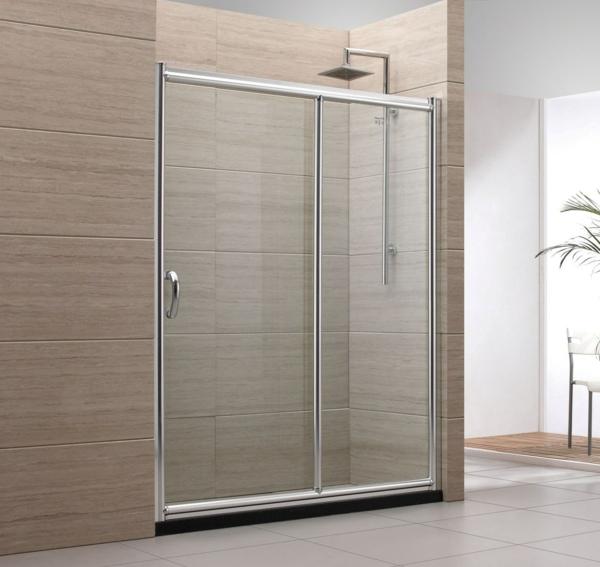 La porte coulissante pour la salle de bain for Baignoire avec porte vitree