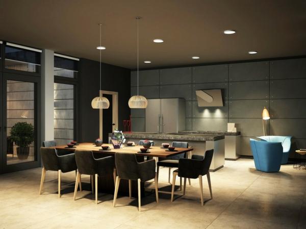 suspension-de-salle-à-manger-deux-lamps-pendantes-au-dessus-d'une-table