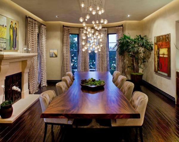suspension-de-salle-à-manger-lampes-penndantes-sophistiquées-et-une-table-unique