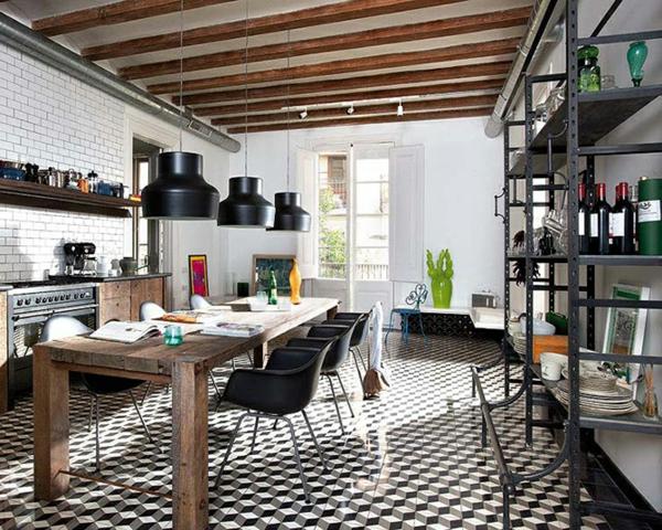 suspension-de-salle-à-manger-salle-de-déjeuner-industrielle